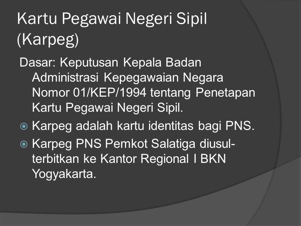 Kartu Pegawai Negeri Sipil (Karpeg)