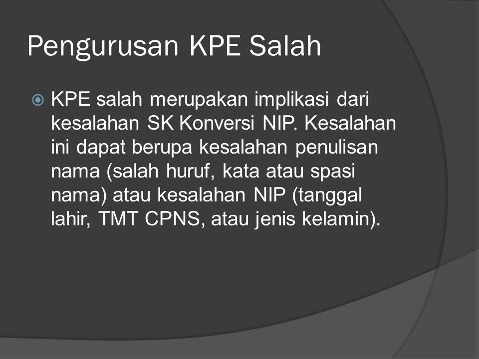 Pengurusan KPE Salah