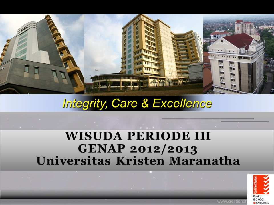 WISUDA PERIODE III GENAP 2012/2013 Universitas Kristen Maranatha