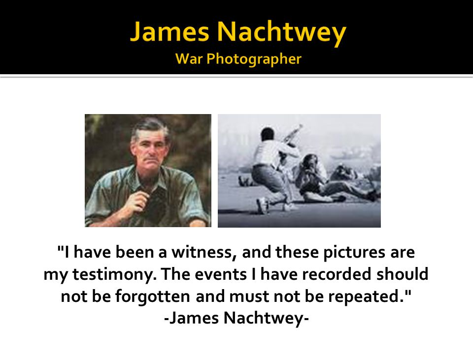 James Nachtwey War Photographer
