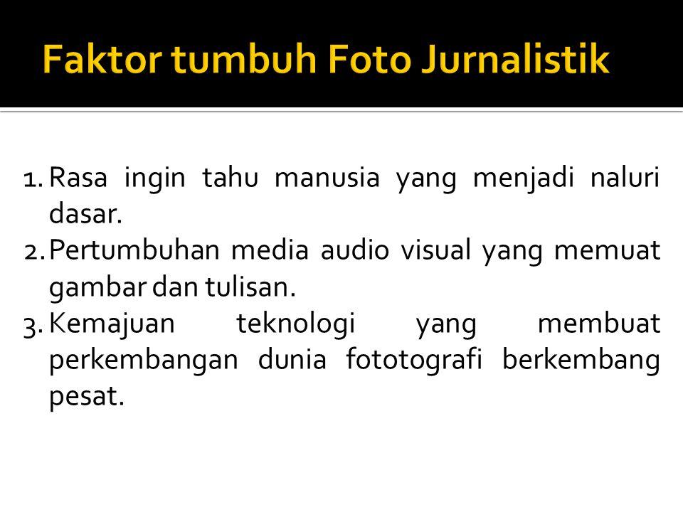 Faktor tumbuh Foto Jurnalistik