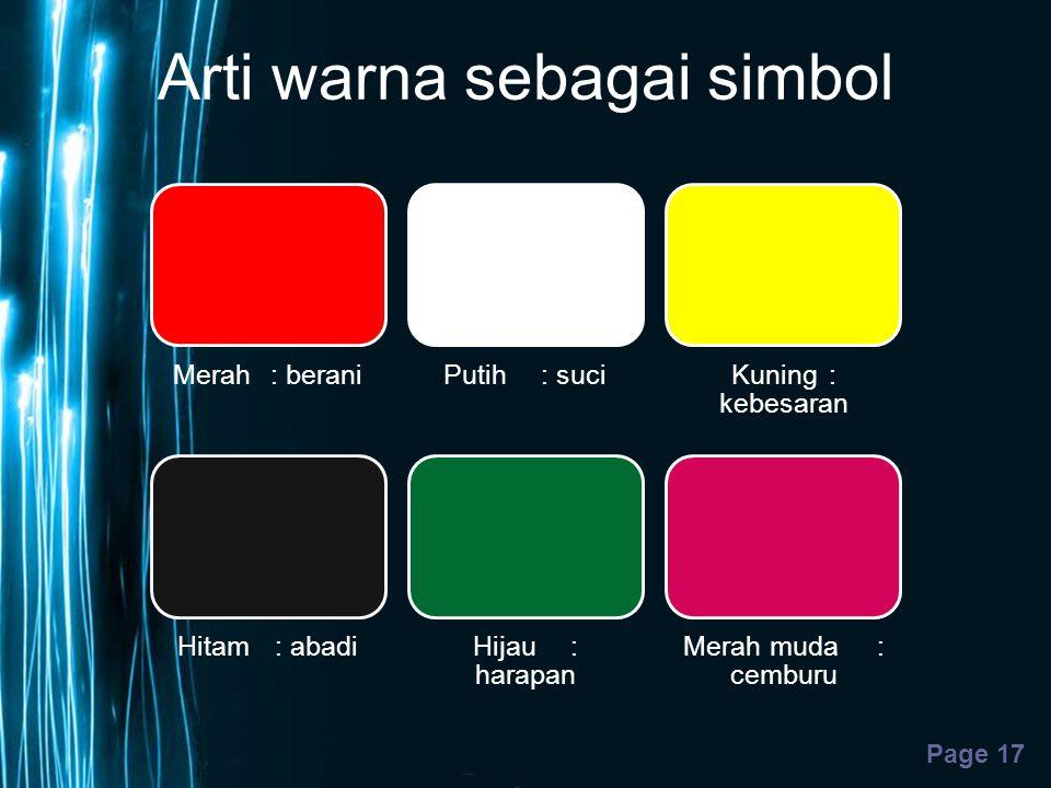 Arti warna sebagai simbol