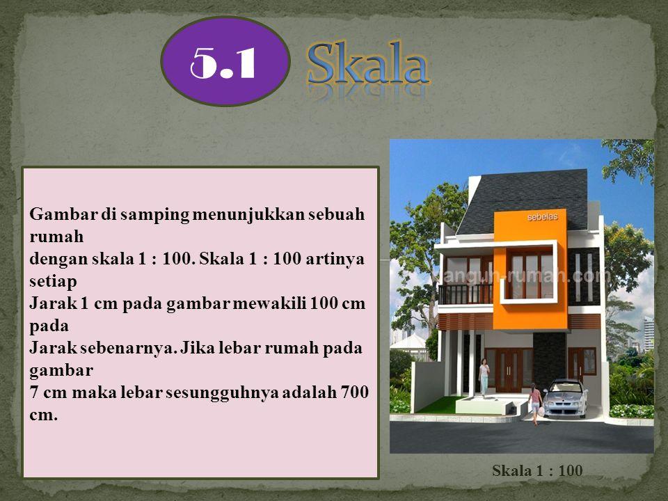 Skala 5.1 Gambar di samping menunjukkan sebuah rumah