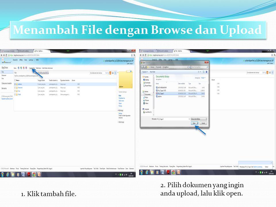 Menambah File dengan Browse dan Upload