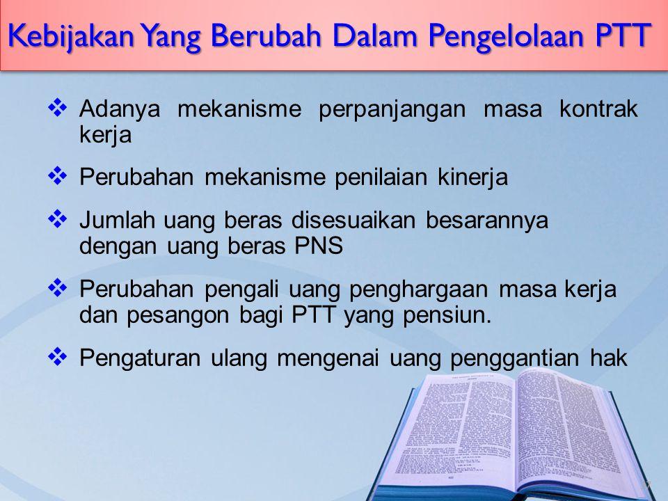Kebijakan Yang Berubah Dalam Pengelolaan PTT