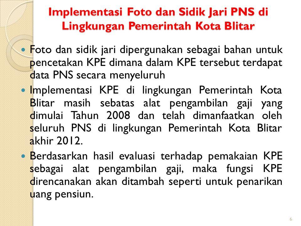 Implementasi Foto dan Sidik Jari PNS di Lingkungan Pemerintah Kota Blitar
