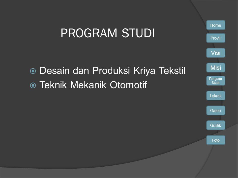 PROGRAM STUDI Desain dan Produksi Kriya Tekstil