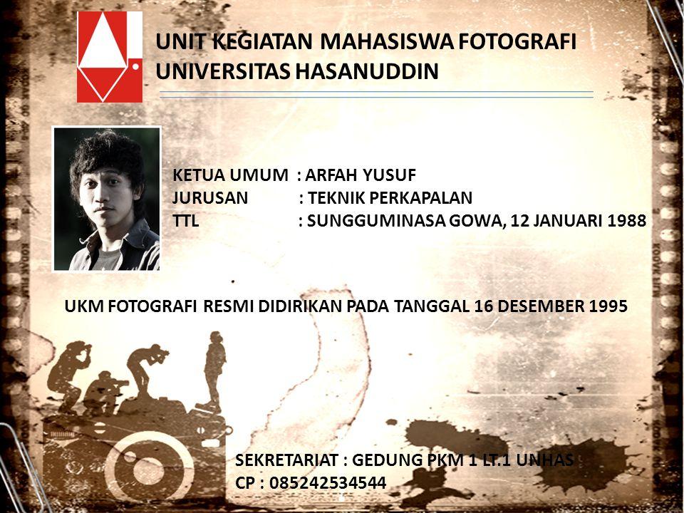 UNIT KEGIATAN MAHASISWA FOTOGRAFI UNIVERSITAS HASANUDDIN