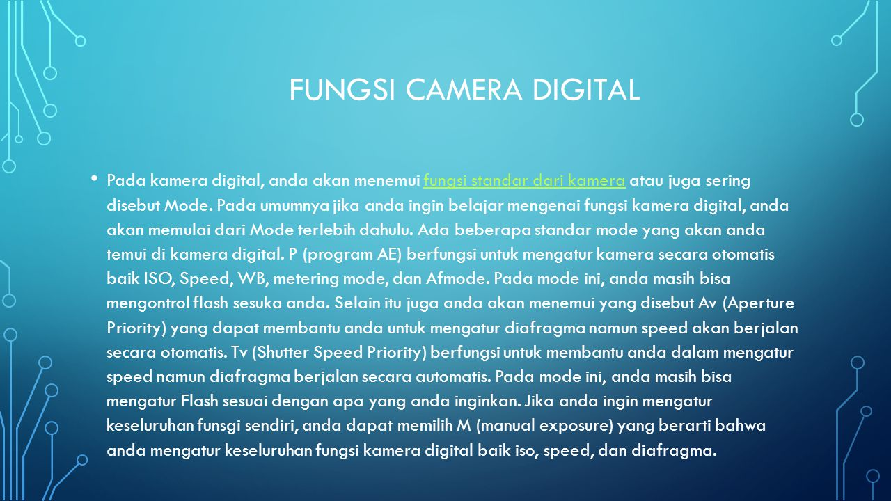 Fungsi camera digital