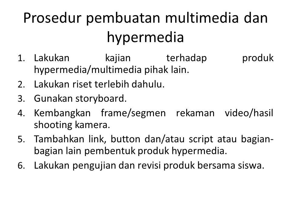 Prosedur pembuatan multimedia dan hypermedia