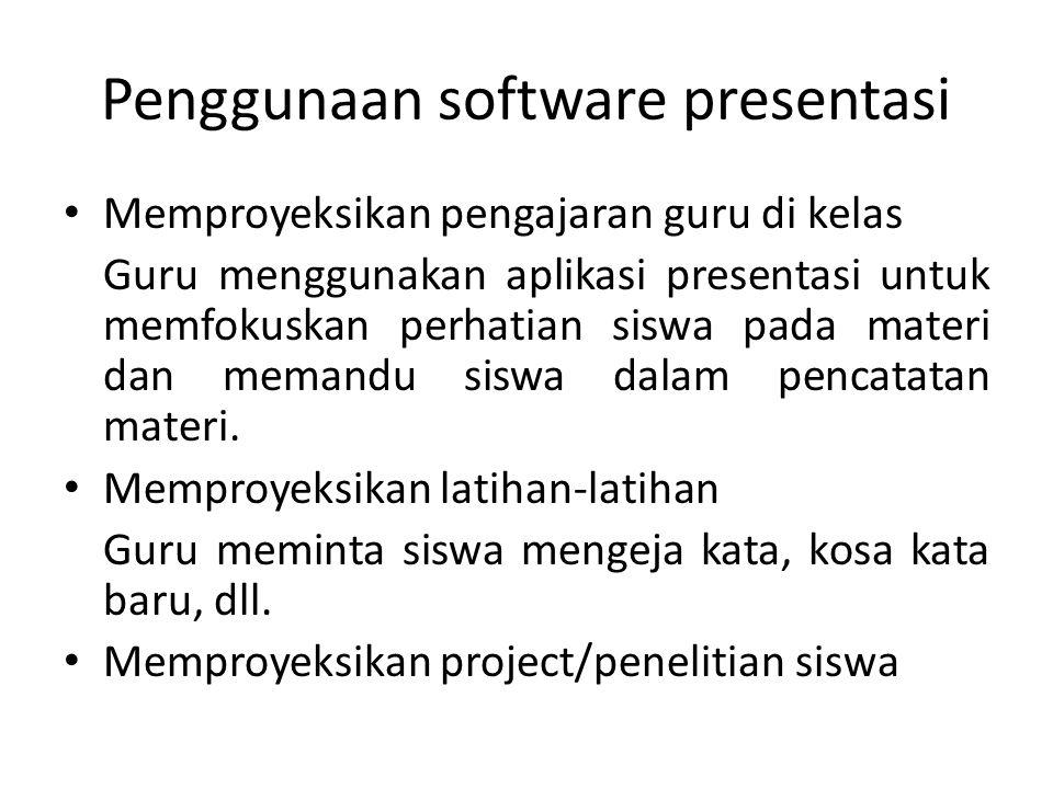 Penggunaan software presentasi