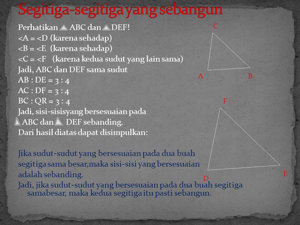 Segitiga-segitiga yang sebangun