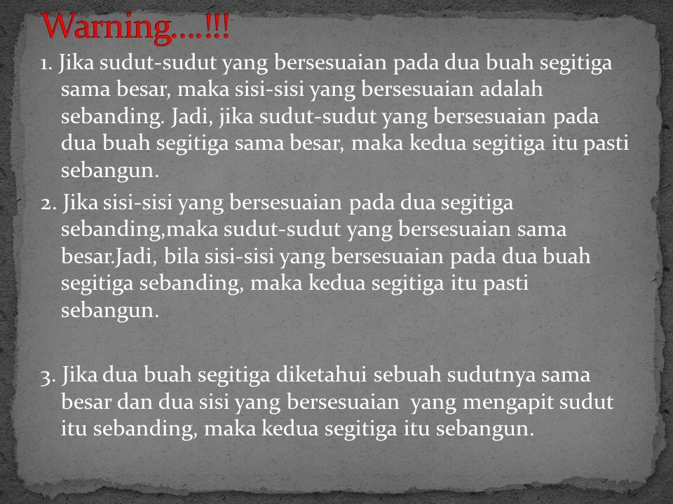 Warning….!!!