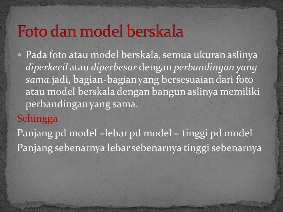 Foto dan model berskala