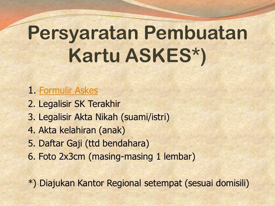 Persyaratan Pembuatan Kartu ASKES*)