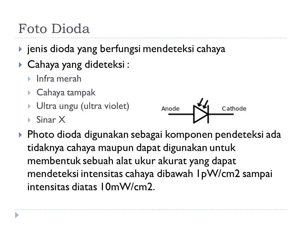 Foto Dioda jenis dioda yang berfungsi mendeteksi cahaya