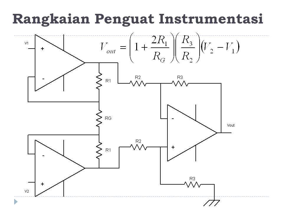 Rangkaian Penguat Instrumentasi