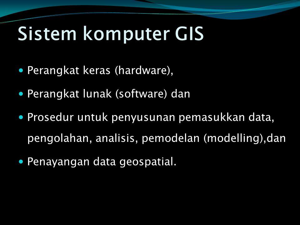 Sistem komputer GIS Perangkat keras (hardware),