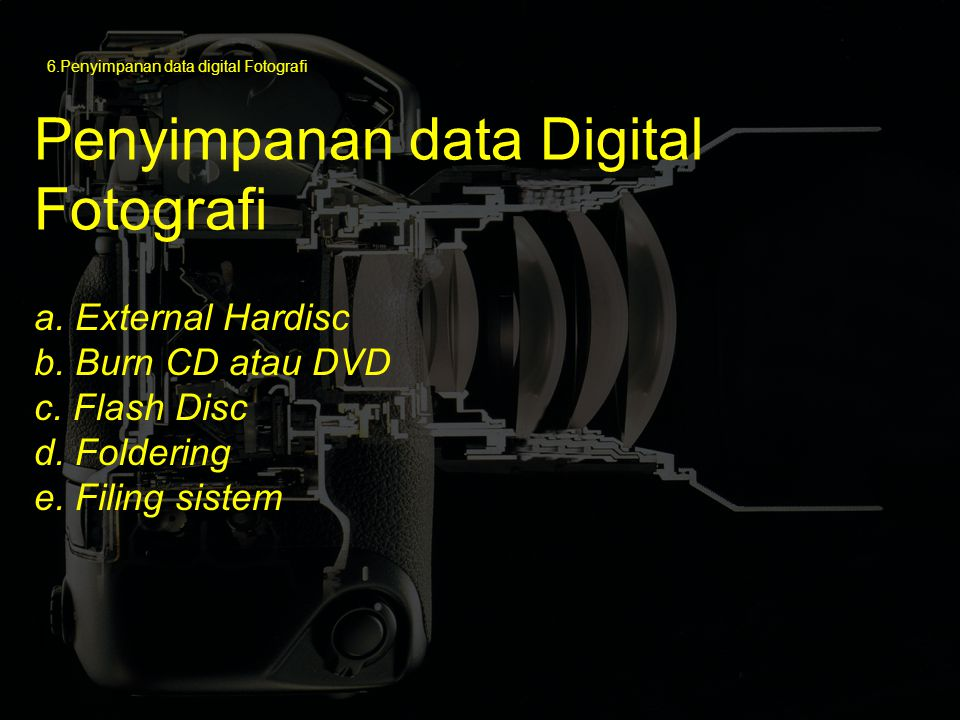 Penyimpanan data Digital Fotografi