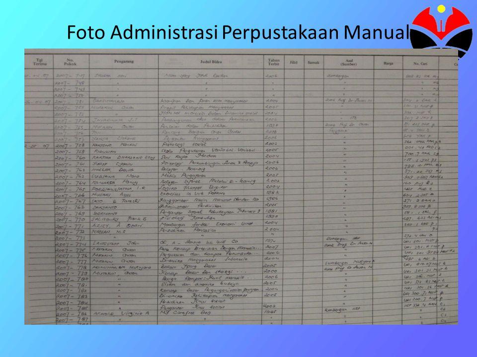 Foto Administrasi Perpustakaan Manual