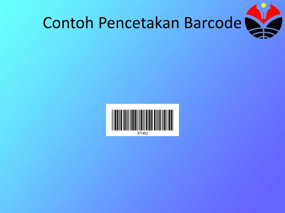 Contoh Pencetakan Barcode