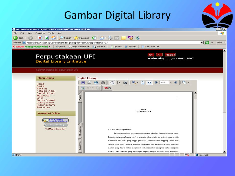 Gambar Digital Library