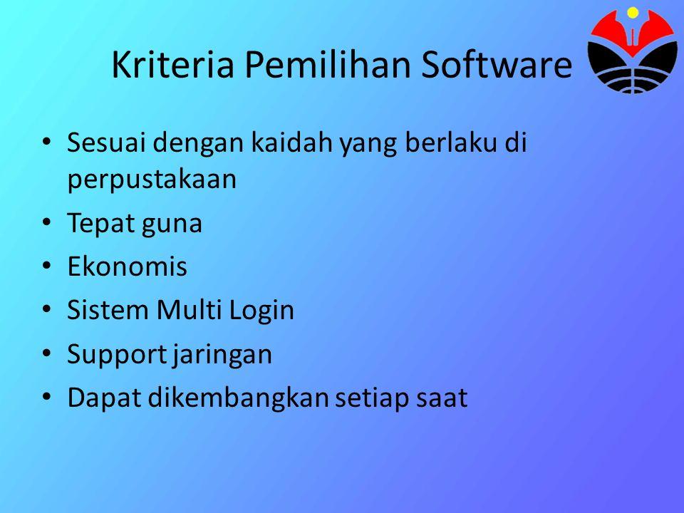 Kriteria Pemilihan Software