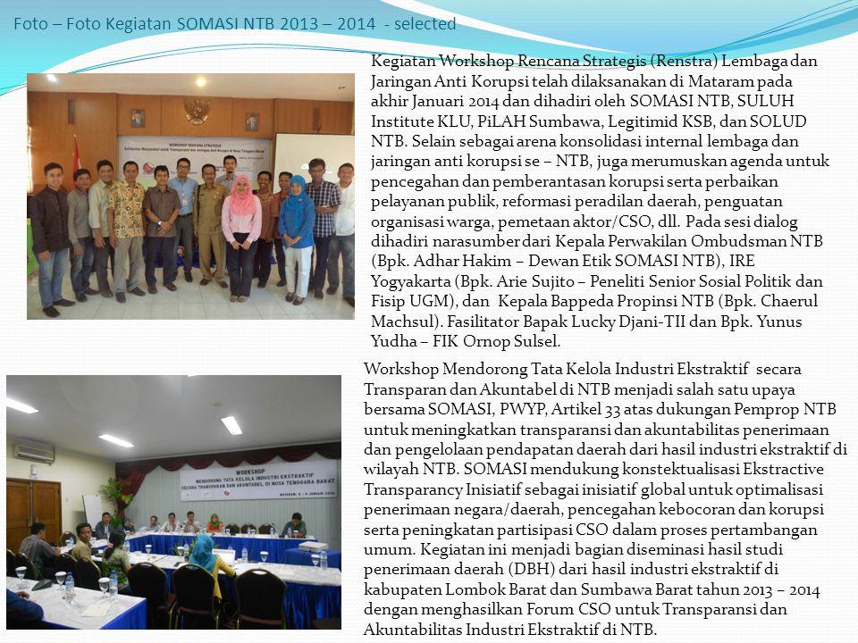 Foto – Foto Kegiatan SOMASI NTB 2013 – 2014 - selected
