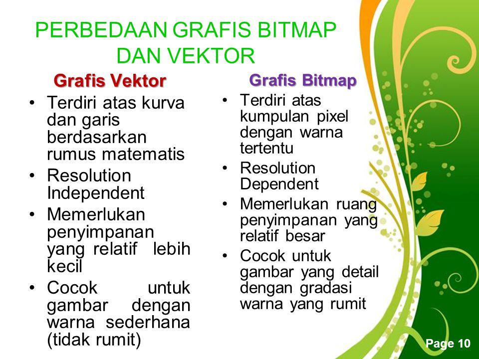 PERBEDAAN GRAFIS BITMAP DAN VEKTOR