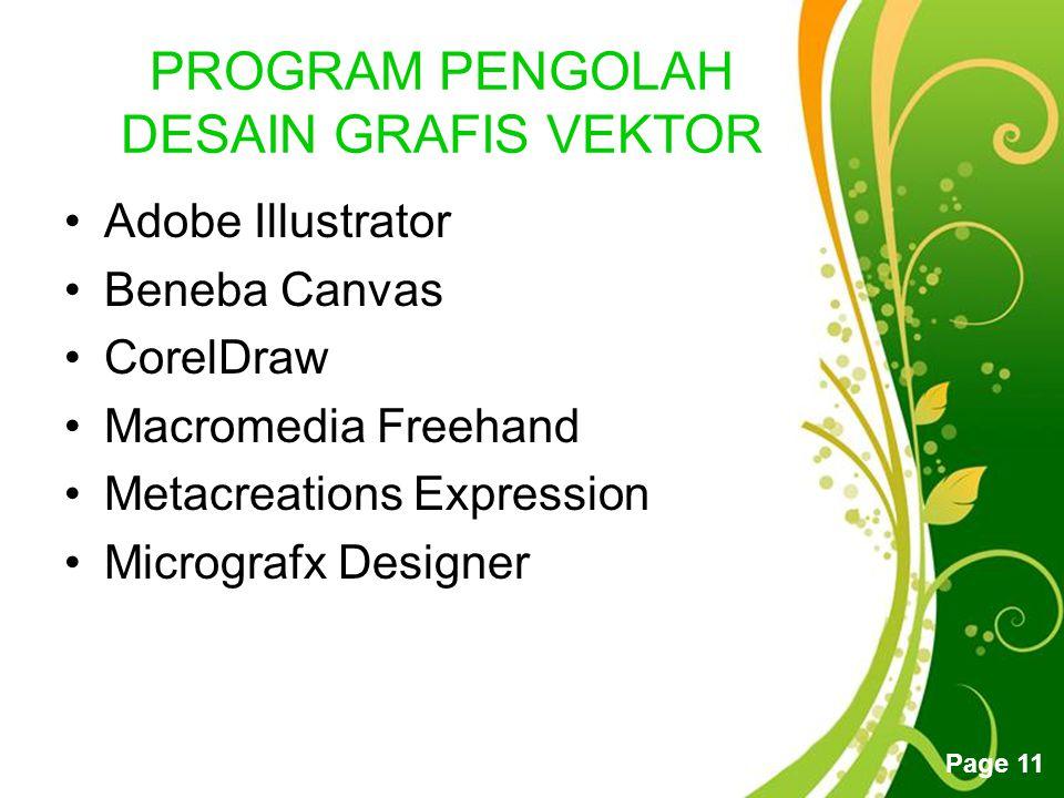 PROGRAM PENGOLAH DESAIN GRAFIS VEKTOR