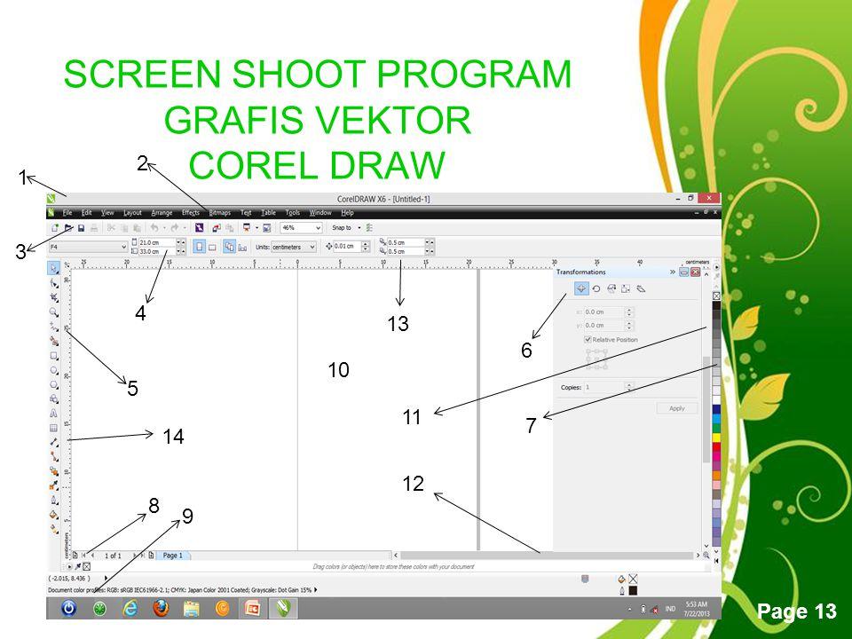 SCREEN SHOOT PROGRAM GRAFIS VEKTOR COREL DRAW