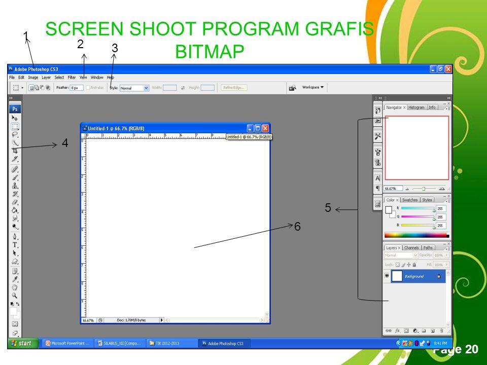 SCREEN SHOOT PROGRAM GRAFIS BITMAP ADOBE PHOTOSHOP