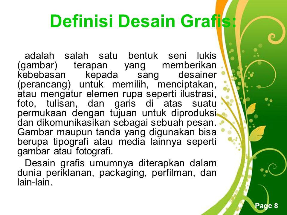 Definisi Desain Grafis: