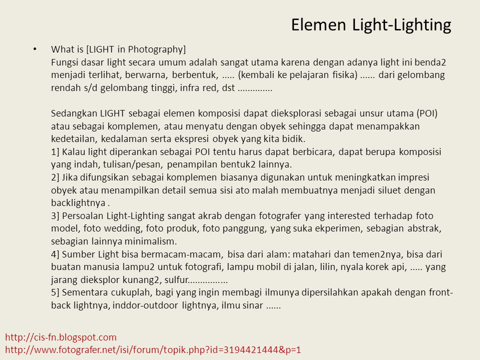Elemen Light-Lighting