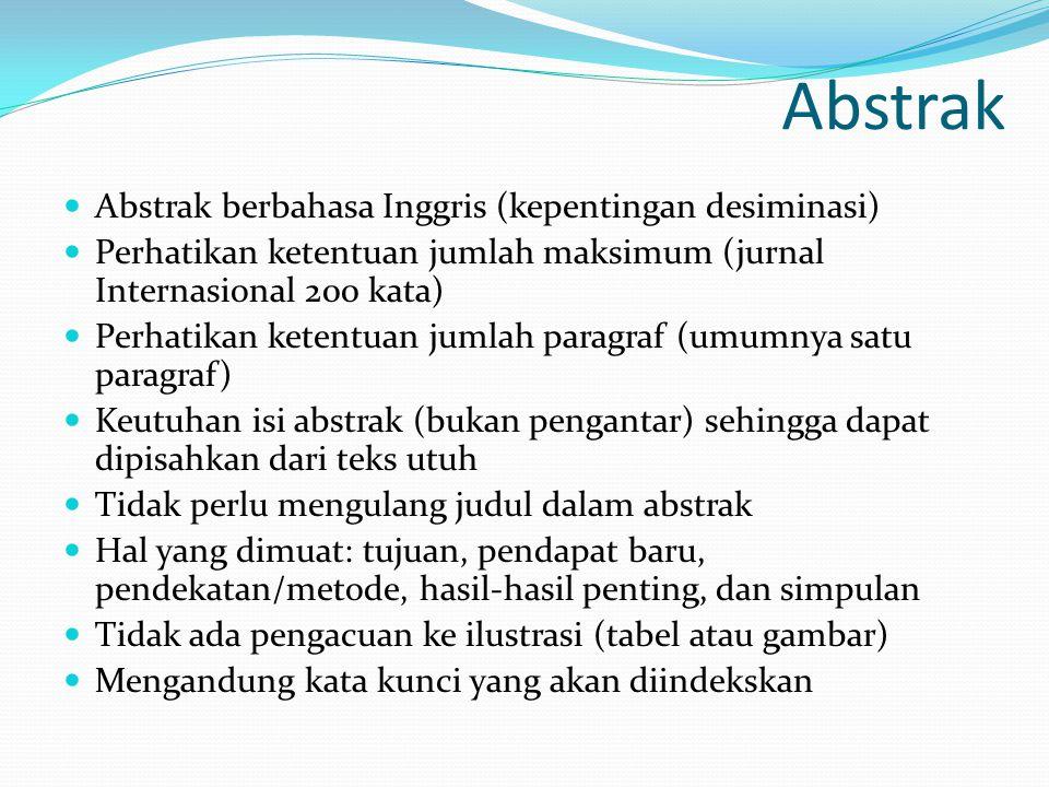 Abstrak Abstrak berbahasa Inggris (kepentingan desiminasi)