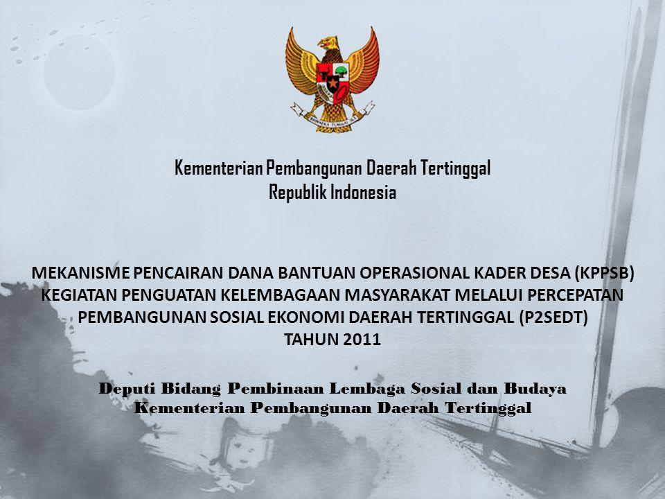 Kementerian Pembangunan Daerah Tertinggal