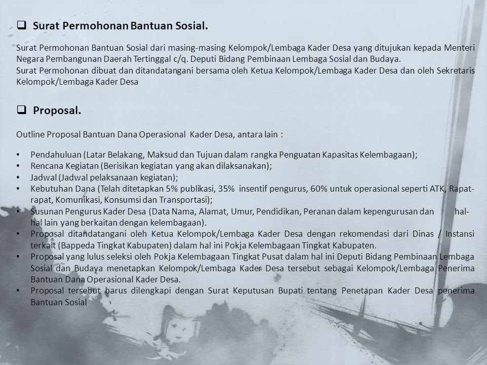 Surat Permohonan Bantuan Sosial.