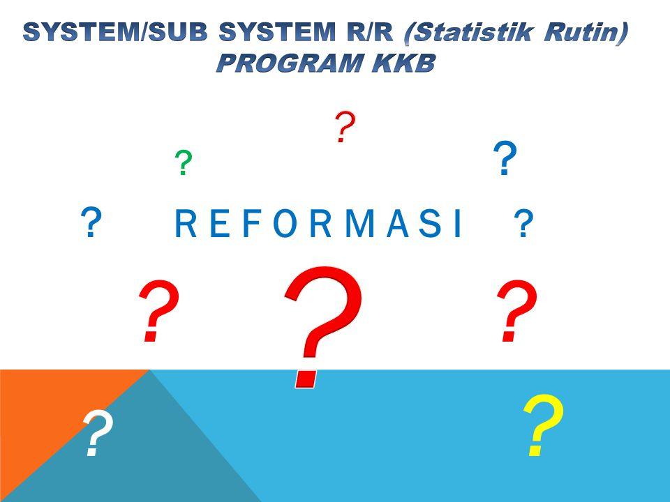 SYSTEM/SUB SYSTEM R/R (Statistik Rutin)