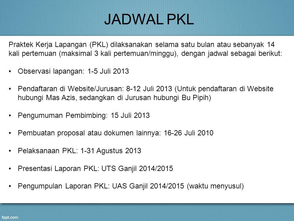 JADWAL PKL