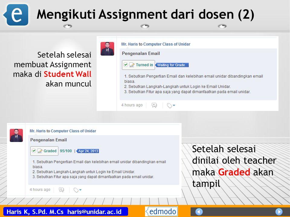 Mengikuti Assignment dari dosen (2)