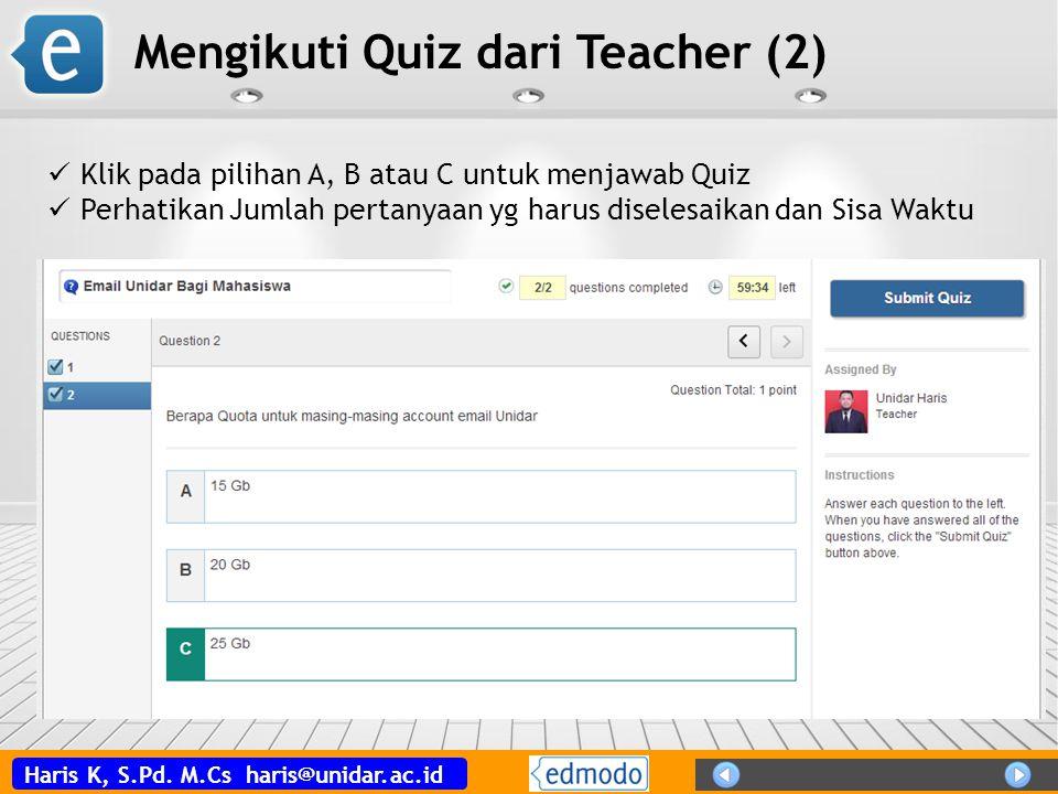 Mengikuti Quiz dari Teacher (2)