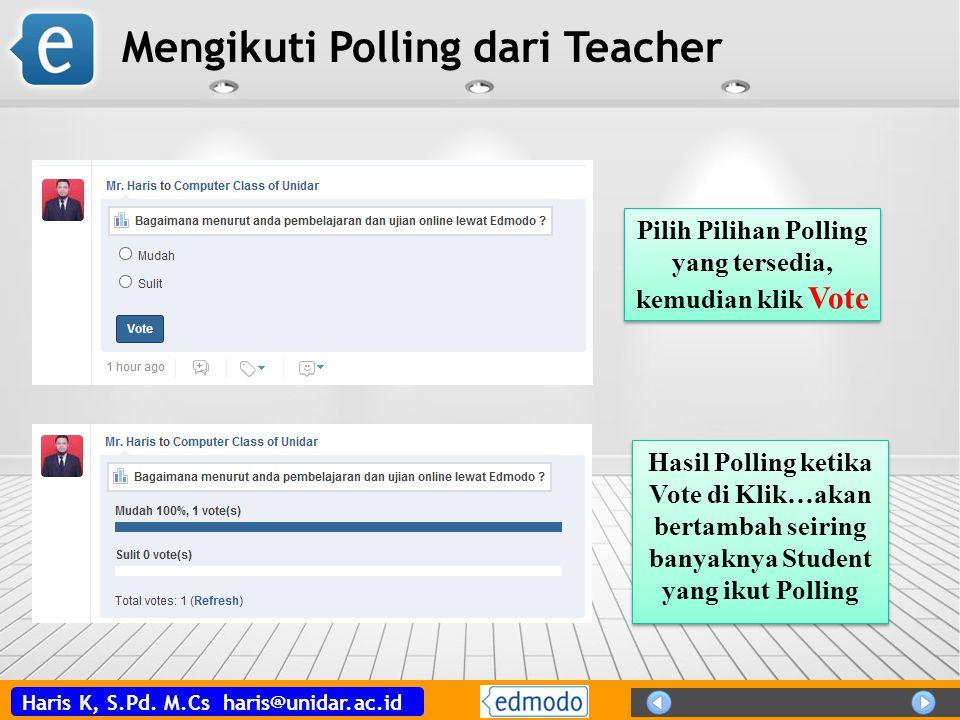 Mengikuti Polling dari Teacher