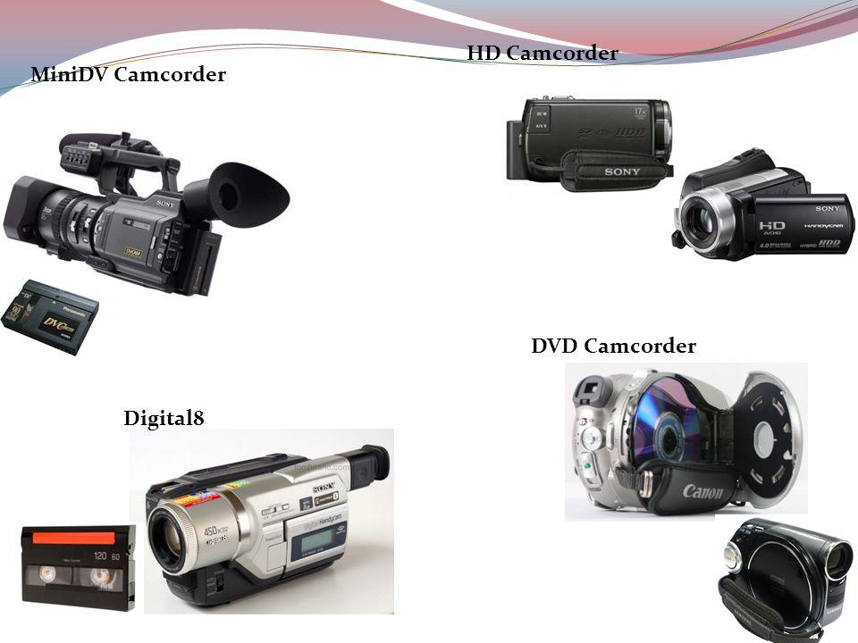 HD Camcorder MiniDV Camcorder DVD Camcorder Digital8