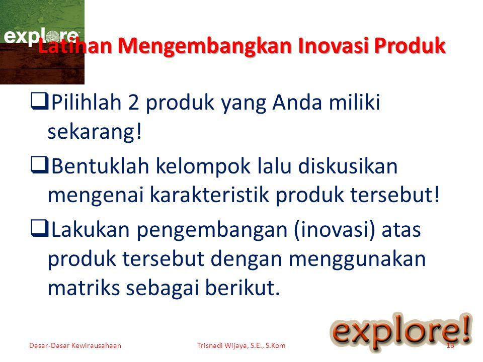 Latihan Mengembangkan Inovasi Produk