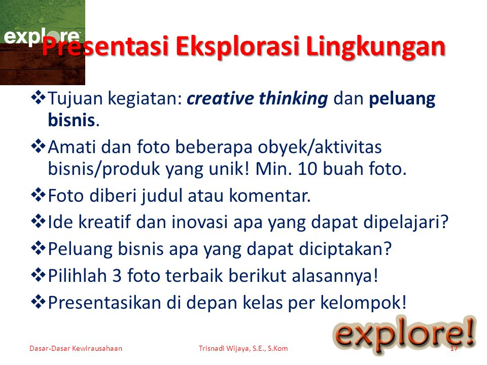 Presentasi Eksplorasi Lingkungan