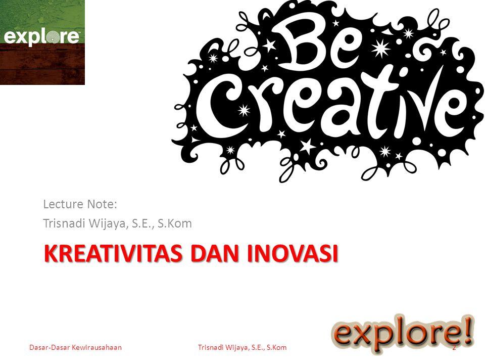 Kreativitas dan Inovasi
