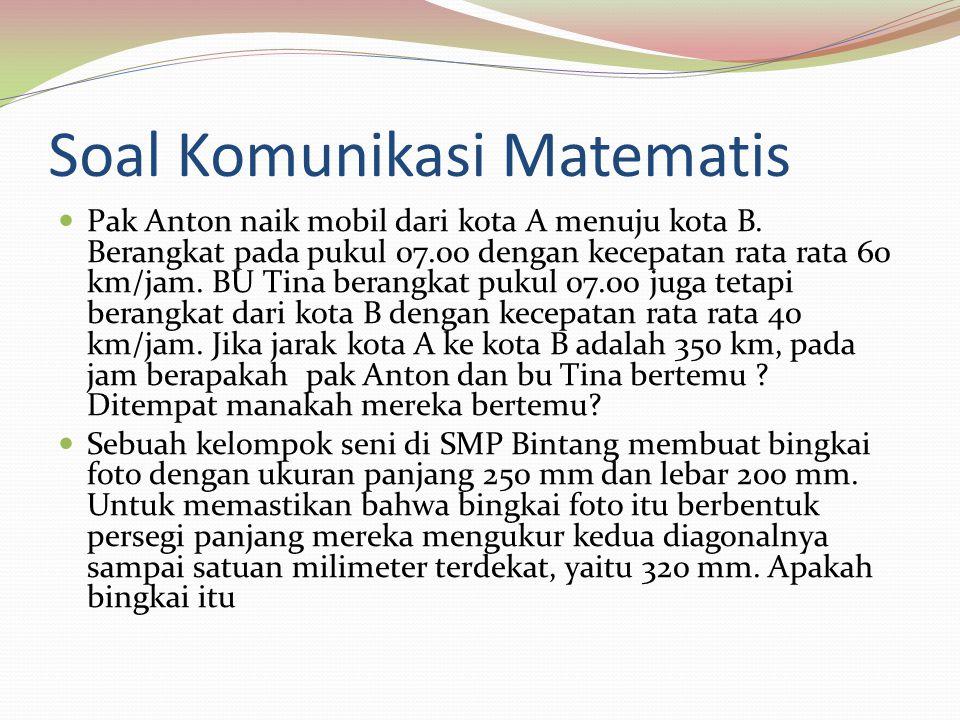 Soal Komunikasi Matematis