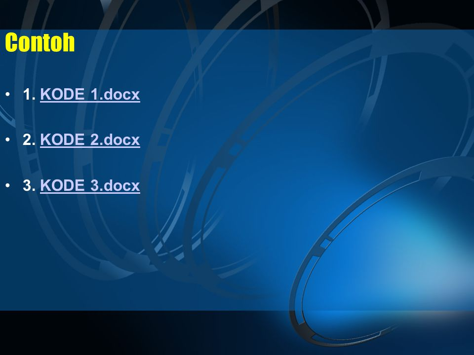 Contoh 1. KODE 1.docx 2. KODE 2.docx 3. KODE 3.docx