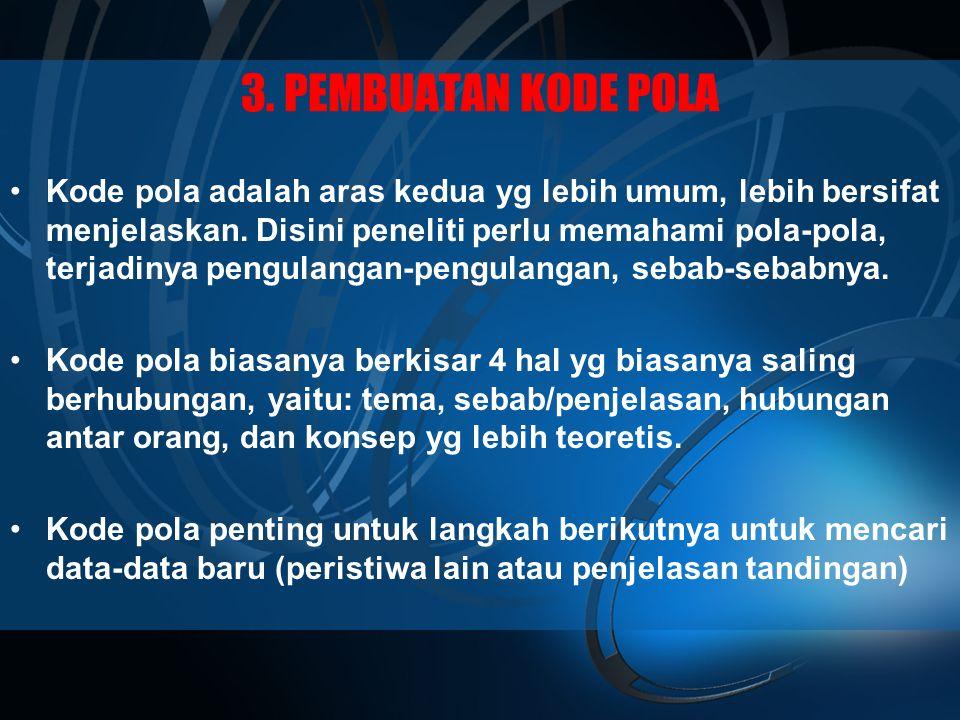 3. PEMBUATAN KODE POLA