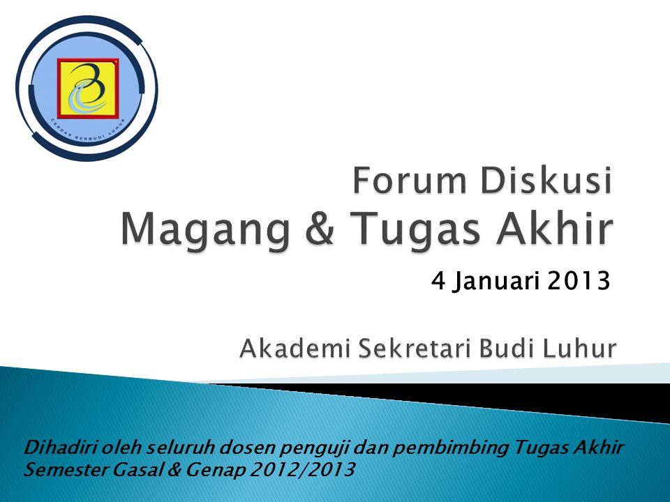 Forum Diskusi Magang & Tugas Akhir
